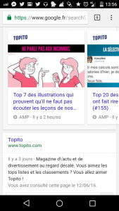 Accelerated Mobile Pages Topito - les bruits du digital