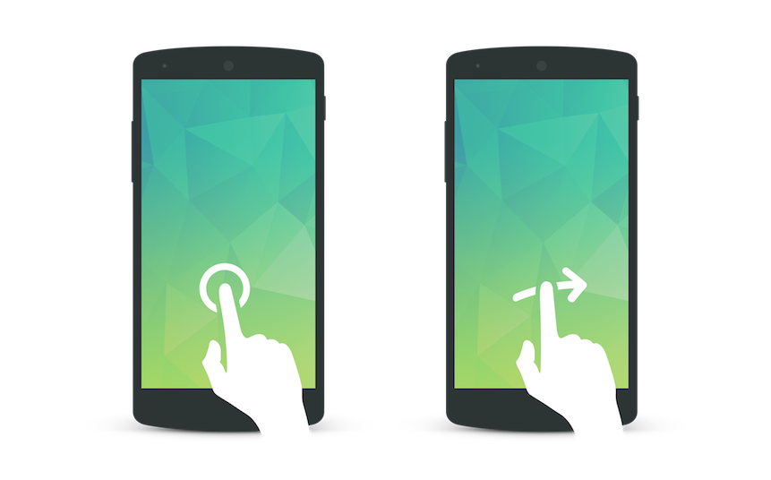Geste Tap et Swipe - Les bruits du digital