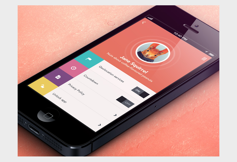application en flat design