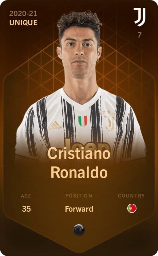 La carte unique de Christiano Ronaldo vendue sur Sorare - Les bruits du digital